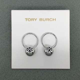 Tory Burch Sample Earrings 銀色圈圈波波吊墜耳環