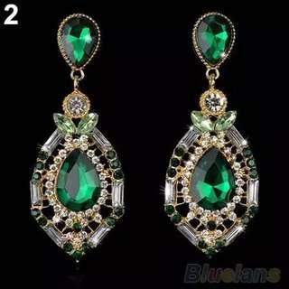 Drop big earrings