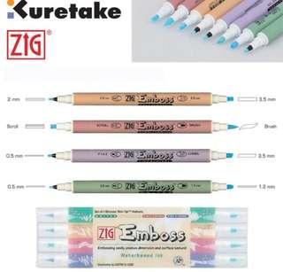 ZIG Emboss Twin Tip Markers - Calligraphy