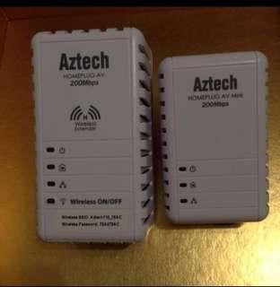Aztech Homeplug AV 200Mbps wireless