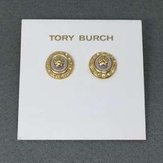Tory Burch Sample Earrings 金色閃石珍珠耳環