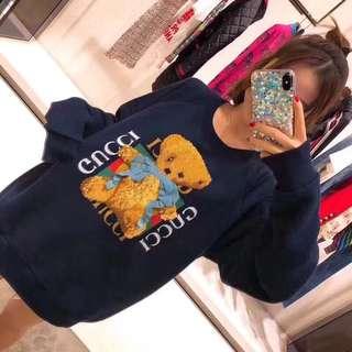 Gucci bear hoodies