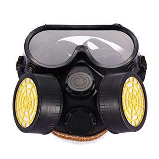 Industrial Anti-Dust Respirator Mask Chemical Gas Mask with Eye Goggles