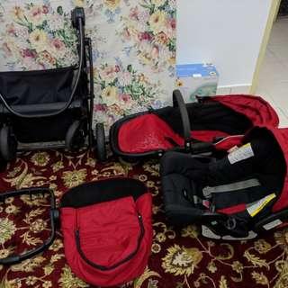 Graco Evo Travel System (Stroller & Car Seat)
