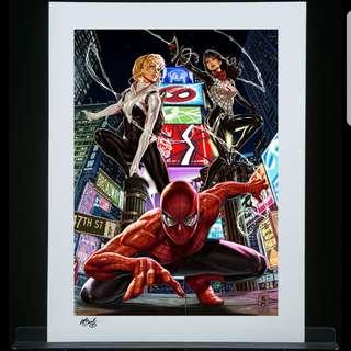 Sideshow Artprint Spider verse