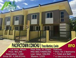 2bedroom rent to own house and lot in Trece Martires Cavite