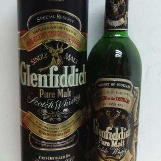 Glenfiddich Pure Malt Scotch  Whisky 格蘭菲迪80年代舊威750ml