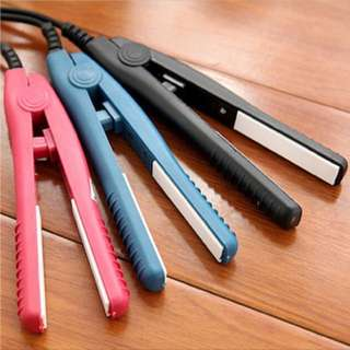 Mini portable Ceramic Hair Straightener / curler - Black / Pink