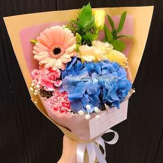 To be loved- Eustomas  Hydrangea Carnations Gerbera