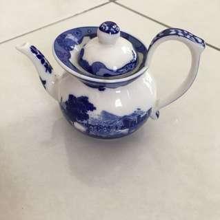 Fine Porcelain Hand Painted Miniature Teapot