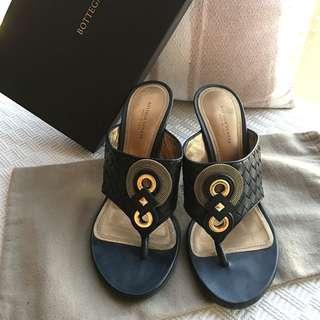 "Bottega Veneta BV  Signature ""intrecciato"" leather mules sandals shoes #Made in Italy @Size 37-1/2"