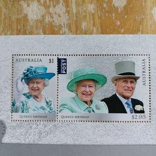澳洲郵票 全新2017年英女皇生曰小全張