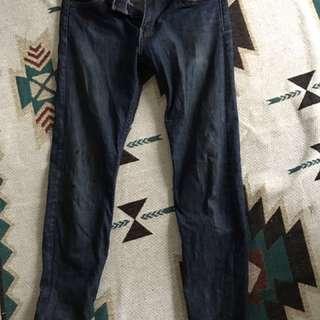 🚚 Levis 510  30腰刷色自然深藍牛仔褲
