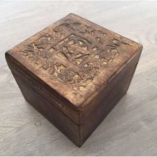 New Samantha Wills Wooden Carved Large Cuff Jewellery Box
