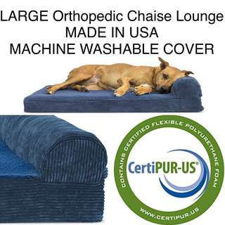 USA made REAL Orthopedic Chaise Lounge LARGE Dog Cat Pet Bed
