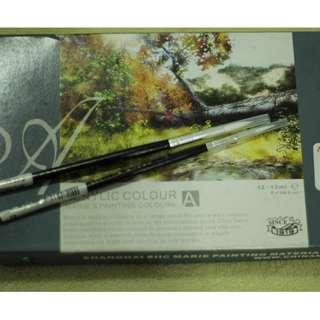 Acrylic Paint and Paint Brush