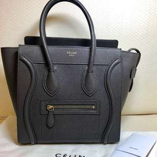 Celine micro luggage (dark taupe)