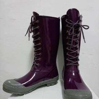 🚚 STEVE MADDEN長筒雨靴 雪靴紫色