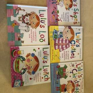 Lulu's series of pop up and touch and feel book