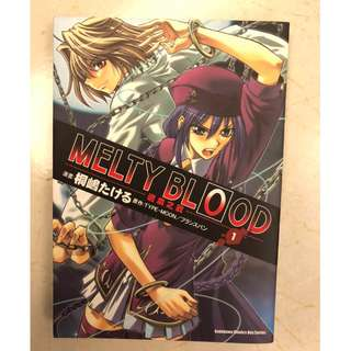 MELTY BLOOD漫畫,MELTY BLOOD(別名:逝血之戰,MELTY BLOOD逝血之戰)。