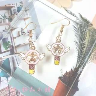 《PoPo飾品》耳環 手作款*少女魔法杖#可改耳針/耳夾