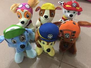 Petrol Paw dogs set of 6 (6 for 35)