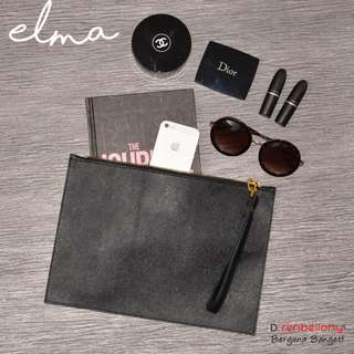 Elma Clutch Square D'renbellony - Black (Tas Tangan Wanita, Tas Kerja)