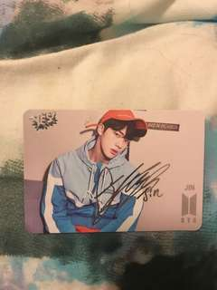 BTS Jin Yes Card (signed)