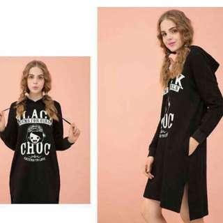 NOW AVAILABLE!‼ FREE SIZE FIT TO LARGE  ☑KOREAN HOODIE DRESS