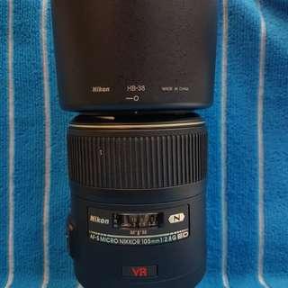 Nikon Afs 105/2.8 G VR