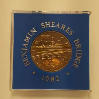 Benjamin Sheares Bridge 1982 Commemorative Coin