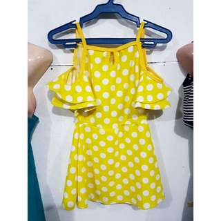 Yellow Dotted Dress