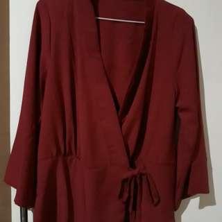 Maroon Blouse kimono