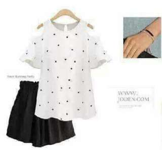FREE SIZE FIT TO LARGE  ☑KOREAN TOPS ☑COTTON SPANDEX FABRIC  ORDER NOW!!
