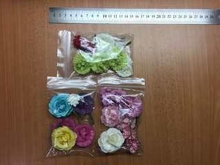 Craft paper flowers rose