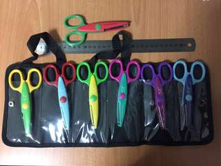 Art and craft scissors with black carrying pouch