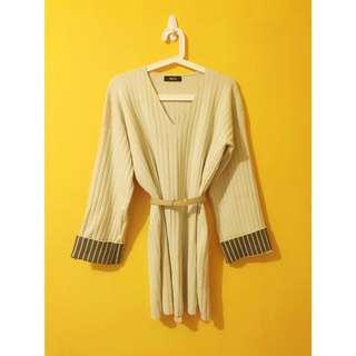 ✨白杏色針織連衣裙洋裝✨