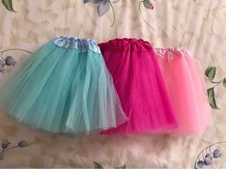 Tutu skirt (Light pink/dark pink/blue)