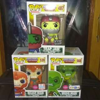 (ON HAND) Masters of the Universe Exclusives Funko Pop Bundle