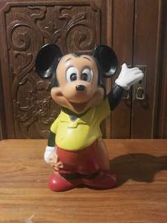 "Vintage Rare Collectable ""The Chartered Bank"" Mickey Mouse Coin Bank"