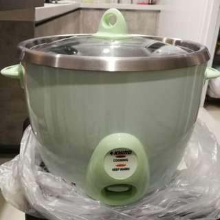 Khind Anshin stainless steel rice cooker 1.8L