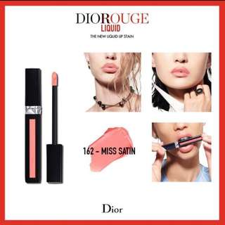 BNIB Rouge Dior Liquid Lip Stain - 162 Miss Satin