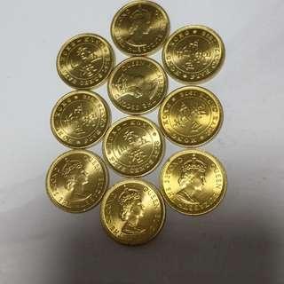 1978年 五仙 港幣 全新 未流通,10元1只.不议价. 五隻以上才有交易
