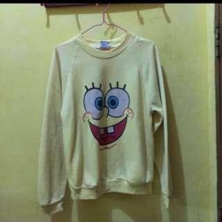 sweter spongebob bahan cotton asli