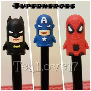 Superheroes cute pens