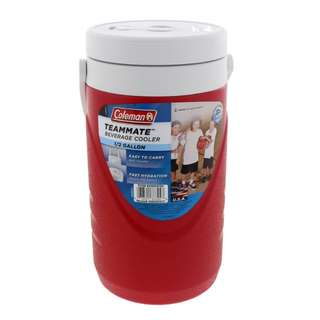 Brand New Coleman RED Teammate 1 Gallon Beverage Cooler