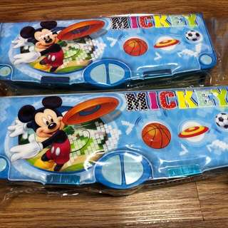 1 Piece Brand New Mickey Mouse Multi Functional Pencil Case