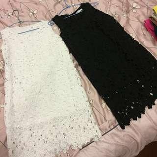 降價!蕾絲洋裝 黑白兩色(含運)#換季五折