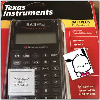Incredibly Professional Texas Instrument BA II PLUS Advanced Financial Calculator