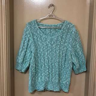 Bluish green sweater